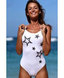 Слитный купальник Shining star с пайетками