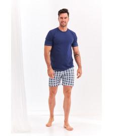 Мужская пижама Dominik с клетчатыми шортами