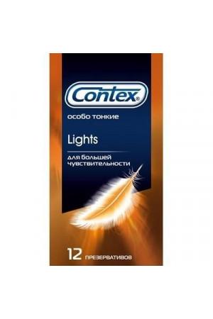 Особо тонкие презервативы Contex Lights - 12 шт.