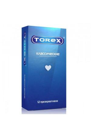 """Гладкие презервативы Torex """"Классические"""" - 12 шт."""