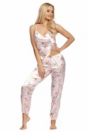 Атласная пижама Donatella с цветочным принтом