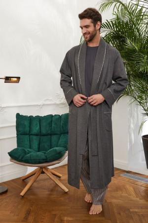 Длинный мужской халат на запахе