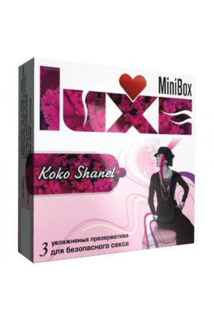 "Ароматизированные презервативы Luxe Mini Box ""Коко Шанель"" - 3 шт."
