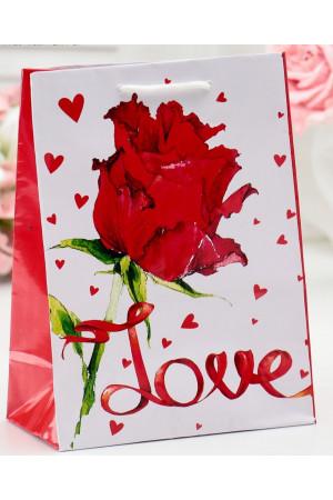 "Подарочный пакет ""Love"" - 15 х 12 см."