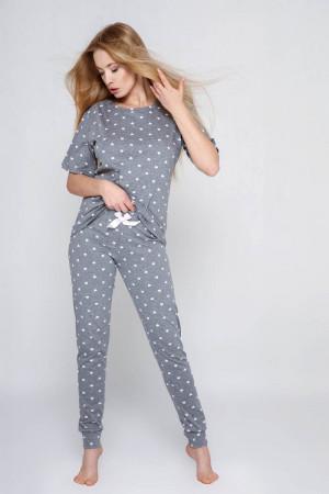 Хлопковая пижама Cristine с сердечками