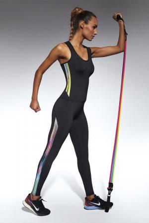Легинсы для фитнеса с цветными вставками Cosmic